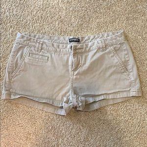 Express Shorts Dark Beige / Light brown